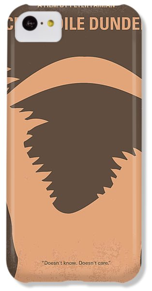 No210 My Crocodile Dundee Minimal Movie Poster IPhone 5c Case by Chungkong Art