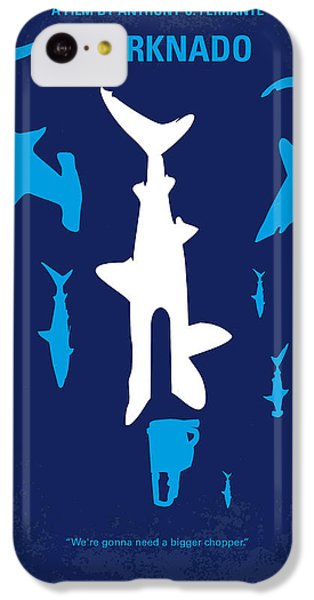 Sharks iPhone 5c Case - No216 My Sharknado Minimal Movie Poster by Chungkong Art