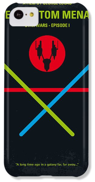 Knight iPhone 5c Case - No223 My Star Wars Episode I The Phantom Menace Minimal Movie Poster by Chungkong Art