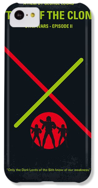 Knight iPhone 5c Case - No224 My Star Wars Episode II Attack Of The Clones Minimal Movie Poster by Chungkong Art