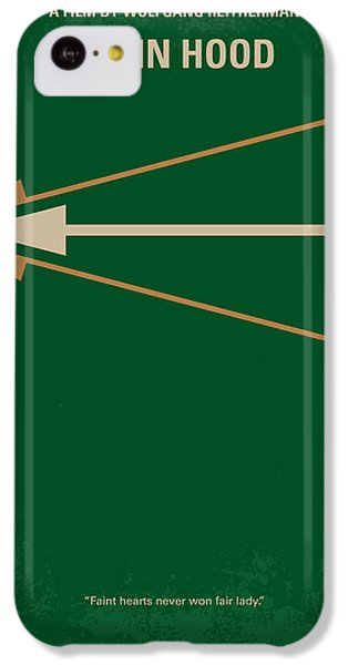 Robin iPhone 5c Case - No237 My Robin Hood Minimal Movie Poster by Chungkong Art