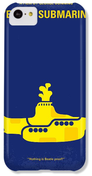 Musicians iPhone 5c Case - No257 My Yellow Submarine Minimal Movie Poster by Chungkong Art