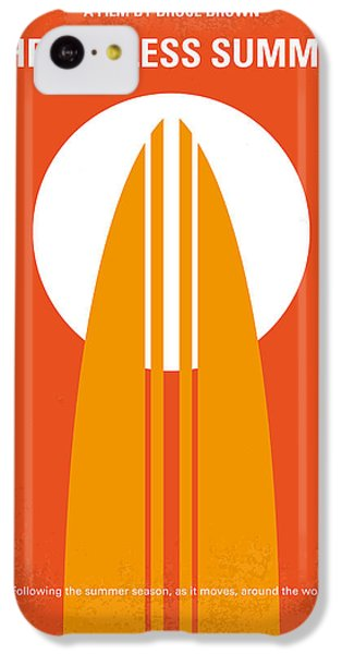 Orange iPhone 5c Case - No274 My The Endless Summer Minimal Movie Poster by Chungkong Art