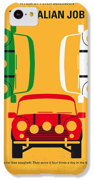 Hollywood iPhone 5c Case - No279 My The Italian Job Minimal Movie Poster by Chungkong Art