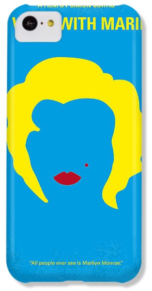 No284 My Week With Marilyn Minimal Movie Poster IPhone 5c Case by Chungkong Art