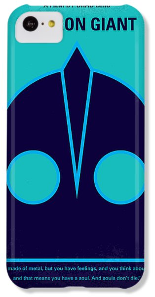 Aliens iPhone 5c Case - No406 My The Iron Giant Minimal Movie Poster by Chungkong Art