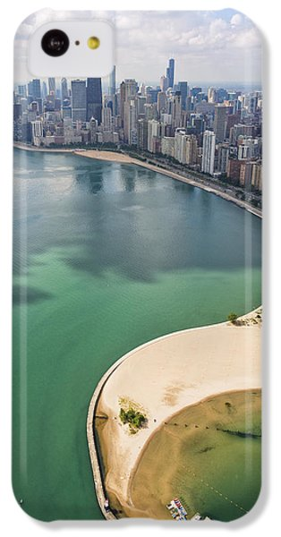 Helicopter iPhone 5c Case - North Avenue Beach Chicago Aerial by Adam Romanowicz