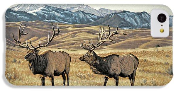 Bull iPhone 5c Case - North Of Yellowstone by Paul Krapf