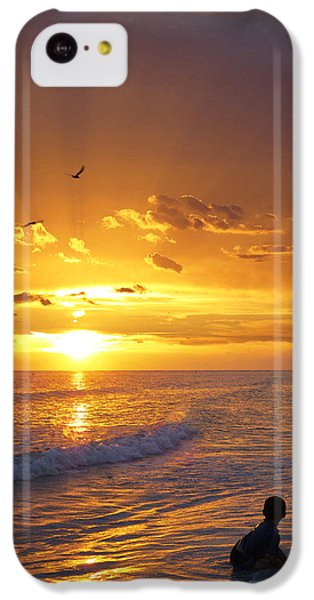 Ocean Sunset iPhone 5c Case - Not Yet - Sunset Art By Sharon Cummings by Sharon Cummings