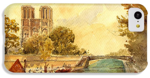 Notre Dame Paris. IPhone 5c Case by Juan  Bosco