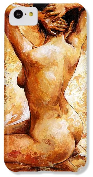 Nudes iPhone 5c Case - Nude 06 by Emerico Imre Toth