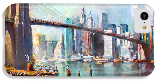 Ny City Brooklyn Bridge II IPhone 5c Case by Ylli Haruni