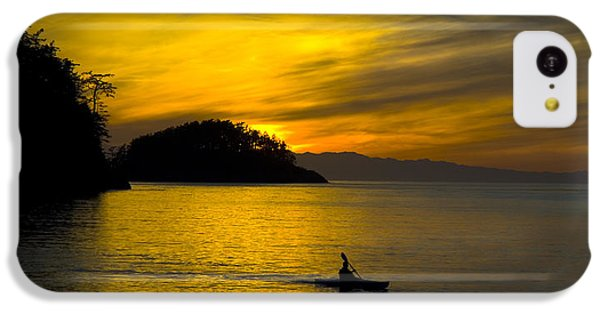 IPhone 5c Case featuring the photograph Ocean Sunset At Rosario Strait by Yulia Kazansky