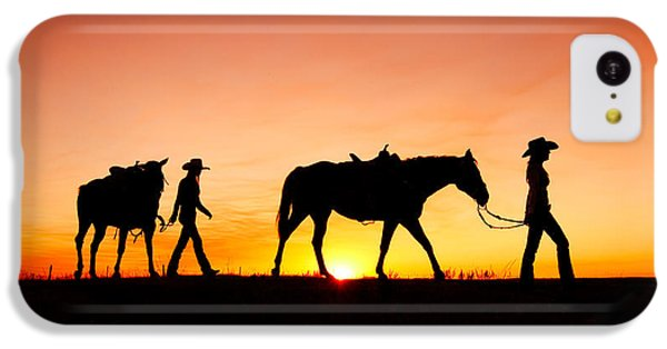 Horse iPhone 5c Case - Off To The Barn by Todd Klassy