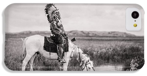 Horse iPhone 5c Case - Oglala Indian Man Circa 1905 by Aged Pixel