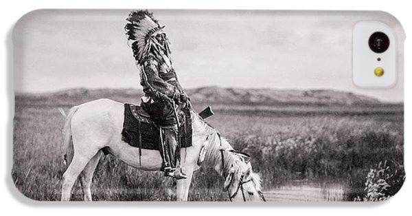 Horse iPhone 5c Case - Oglala Indian Man Circa 1905 by Aged Pixel
