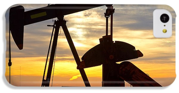 Oil Pump Sunrise IPhone 5c Case by James BO  Insogna