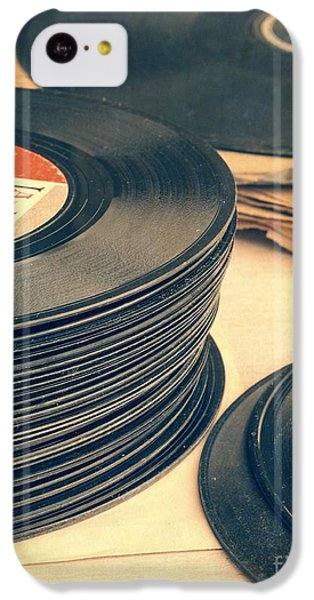 Music iPhone 5c Case - Old 45s by Edward Fielding
