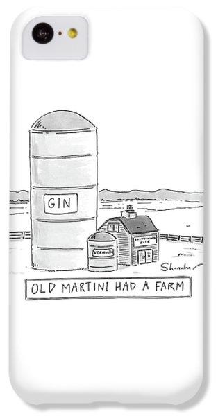 Martini iPhone 5c Case - Old Martini Had A Farm by Danny Shanahan