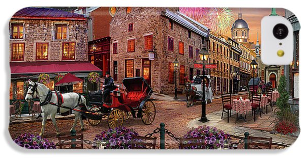 IPhone 5c Case featuring the drawing Old Montreal by David M ( Maclean )