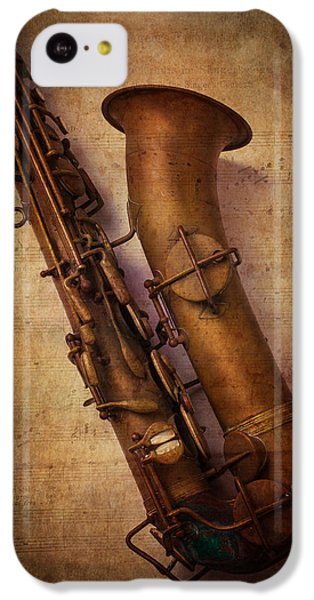 Saxophone iPhone 5c Case - Old Sax by Garry Gay