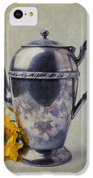 Sunflower iPhone 5c Case - Old Teapot With Sunflower by Garry Gay