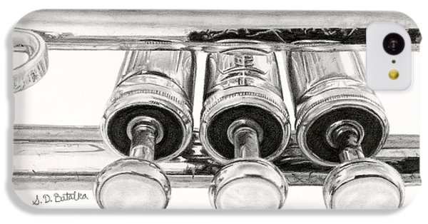 Trumpet iPhone 5c Case - Old Trumpet Valves by Sarah Batalka