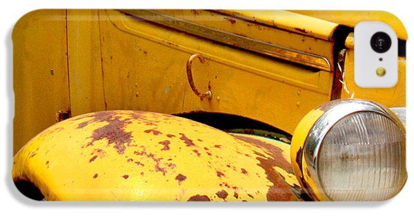 Transportation iPhone 5c Case - Old Yellow Truck by Art Block Collections