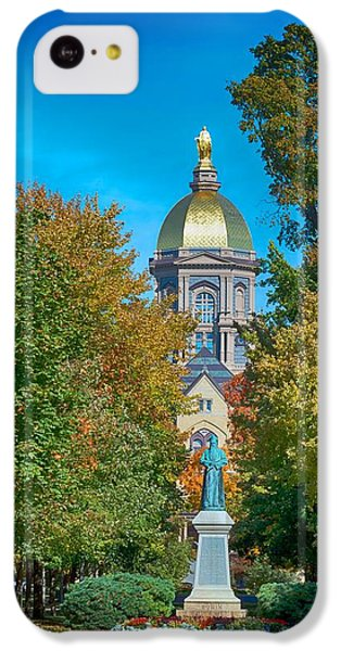 On The Campus Of The University Of Notre Dame IPhone 5c Case by Mountain Dreams