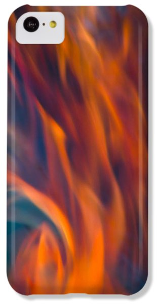IPhone 5c Case featuring the photograph Orange Fire by Yulia Kazansky