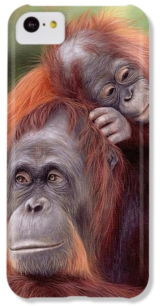 Orangutans Painting IPhone 5c Case by Rachel Stribbling