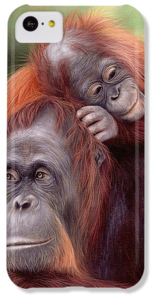 Orangutans Painting IPhone 5c Case by Rachel Stribbling