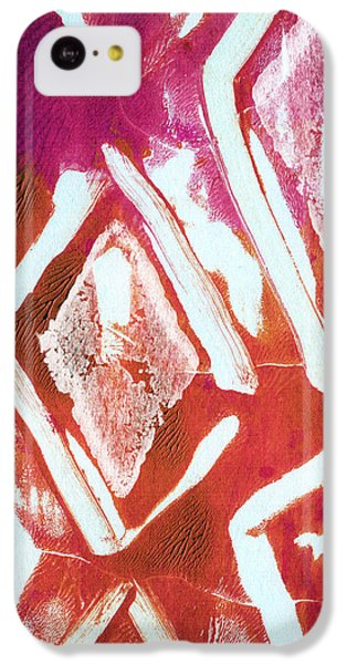 Orchid Diamonds- Abstract Painting IPhone 5c Case by Linda Woods