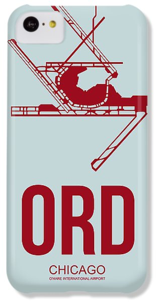 Grant Park iPhone 5c Case - Ord Chicago Airport Poster 3 by Naxart Studio
