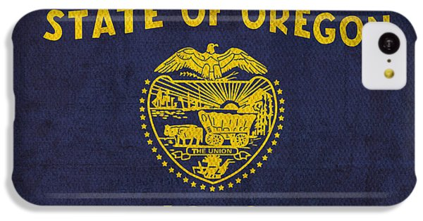 Oregon State Flag Art On Worn Canvas IPhone 5c Case
