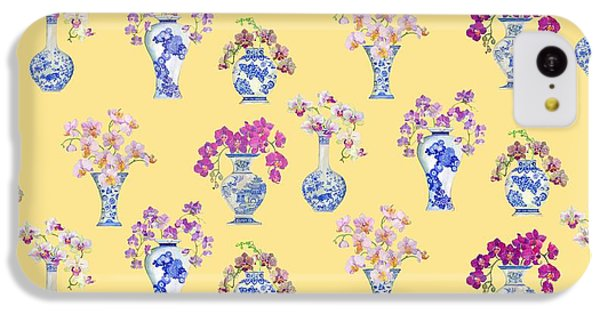 Oriental Vases With Orchids IPhone 5c Case by Kimberly McSparran