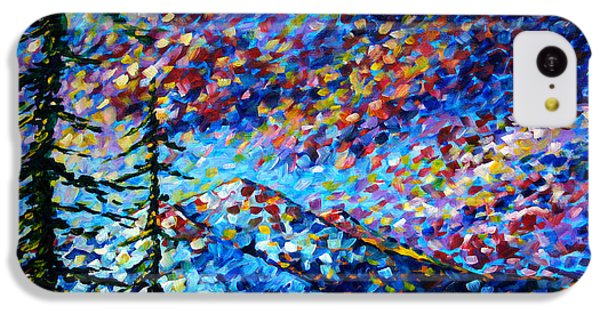 Impressionism iPhone 5c Case - Original Abstract Impressionist Landscape Contemporary Art By Madart Mountain Glory by Megan Duncanson