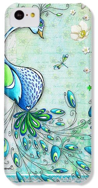 Peacock iPhone 5c Case - Original Peacock Painting Bird Art By Megan Duncanson by Megan Duncanson
