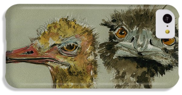 Ostrichs Head Study IPhone 5c Case by Juan  Bosco
