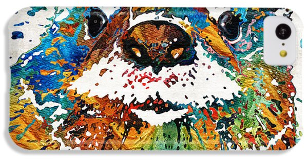 Otter Art - Ottertude - By Sharon Cummings IPhone 5c Case by Sharon Cummings