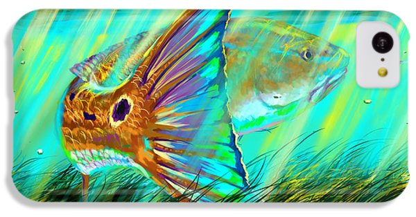 Sharks iPhone 5c Case - Over The Grass  by Yusniel Santos
