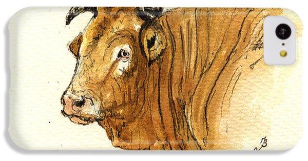 Bull iPhone 5c Case - Ox Head Painting Study by Juan  Bosco