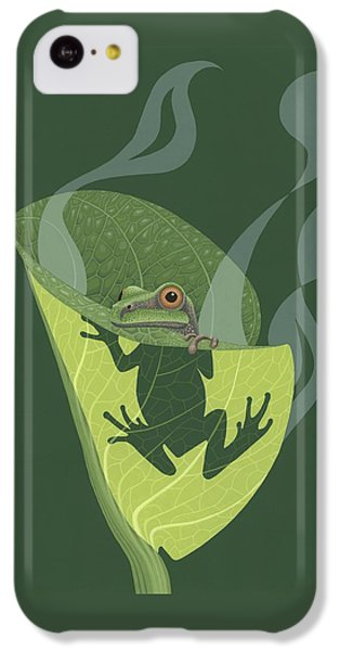 Pacific Tree Frog In Skunk Cabbage IPhone 5c Case by Nathan Marcy