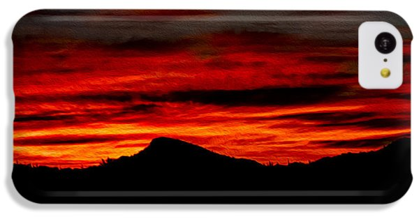 IPhone 5c Case featuring the photograph Painted Sky 45 by Mark Myhaver
