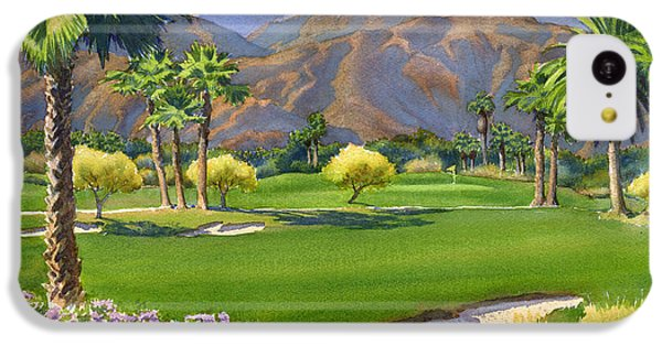 Palm Springs Golf Course With Mt San Jacinto IPhone 5c Case by Mary Helmreich