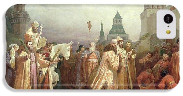 Palm Sunday Procession Under The Reign Of Tsar Alexis Romanov IPhone 5c Case by Viatcheslav Grigorievitch Schwarz