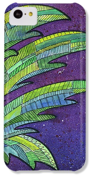 Palms Against The Night Sky IPhone 5c Case by Diane Thornton