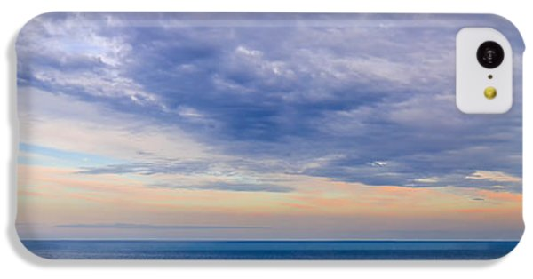 Ocean Sunset iPhone 5c Case - Panorama Of Sky Over Water by Elena Elisseeva