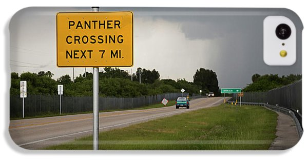 Panther Warning Sign IPhone 5c Case by Jim West