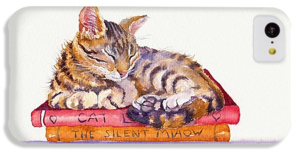Cat iPhone 5c Case - Paperweight by Debra Hall